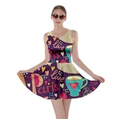 Cute Colorful Doodles Colorful Cute Doodle Paris Skater Dress