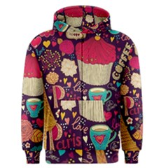Cute Colorful Doodles Colorful Cute Doodle Paris Men s Zipper Hoodie by Nexatart