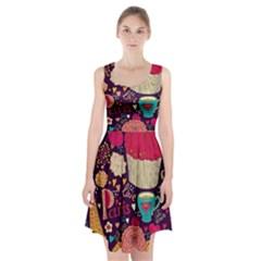 Cute Colorful Doodles Colorful Cute Doodle Paris Racerback Midi Dress