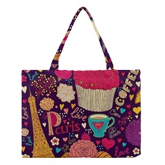 Cute Colorful Doodles Colorful Cute Doodle Paris Medium Tote Bag by Nexatart
