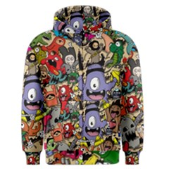 Hipster Wallpaper Pattern Men s Zipper Hoodie
