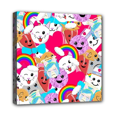 Cute Cartoon Pattern Mini Canvas 8  X 8  by Nexatart