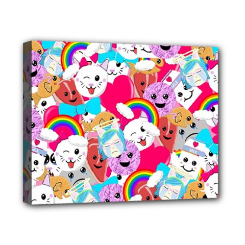 Cute Cartoon Pattern Canvas 10  X 8  by Nexatart