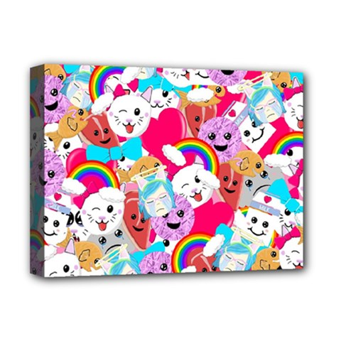 Cute Cartoon Pattern Deluxe Canvas 16  X 12   by Nexatart