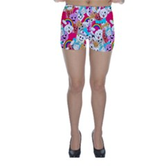 Cute Cartoon Pattern Skinny Shorts