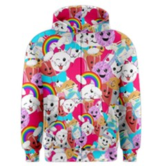 Cute Cartoon Pattern Men s Zipper Hoodie by Nexatart