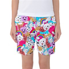 Cute Cartoon Pattern Women s Basketball Shorts