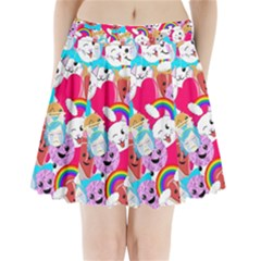 Cute Cartoon Pattern Pleated Mini Skirt