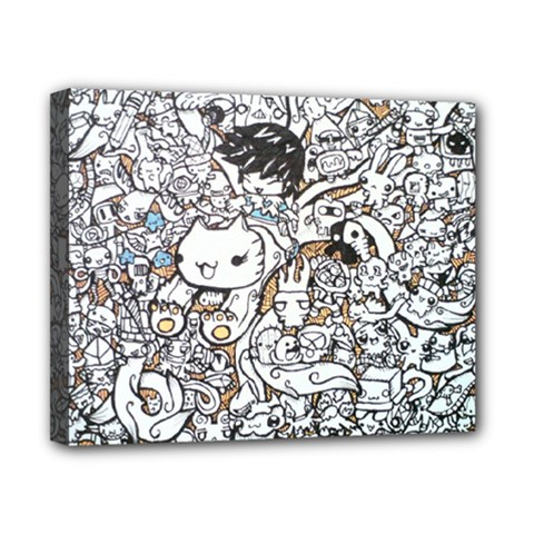 Cute Doodles Canvas 10  X 8  by Nexatart