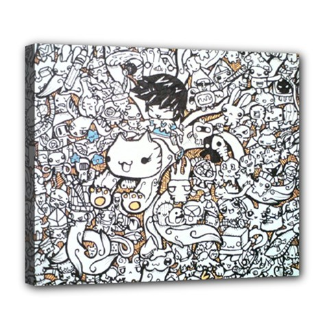 Cute Doodles Deluxe Canvas 24  X 20