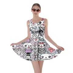 Kawaii Graffiti And Cute Doodles Skater Dress