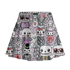 Kawaii Graffiti And Cute Doodles Mini Flare Skirt