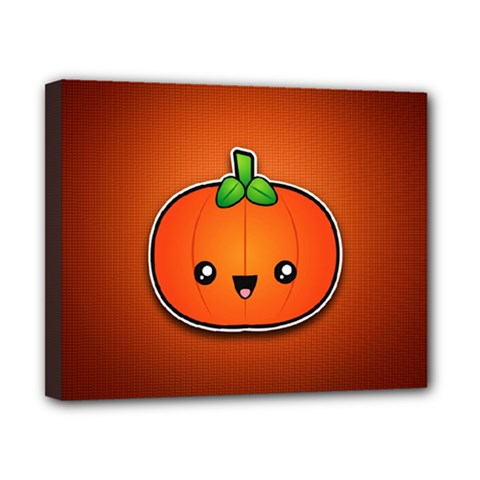 Simple Orange Pumpkin Cute Halloween Canvas 10  X 8  by Nexatart