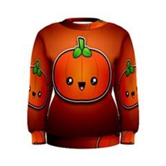 Simple Orange Pumpkin Cute Halloween Women s Sweatshirt