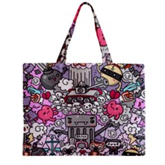 0 Sad War Kawaii Doodle Zipper Mini Tote Bag by Nexatart