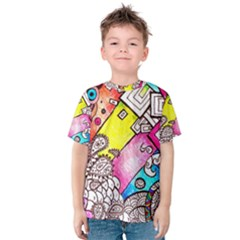 Beautiful Colorful Doodle Kids  Cotton Tee
