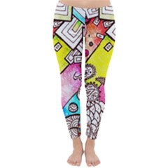 Beautiful Colorful Doodle Classic Winter Leggings
