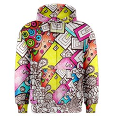 Beautiful Colorful Doodle Men s Zipper Hoodie