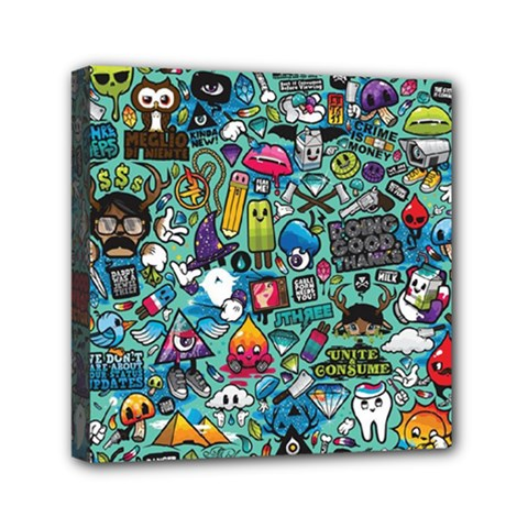 Colorful Drawings Pattern Mini Canvas 6  X 6  by Nexatart