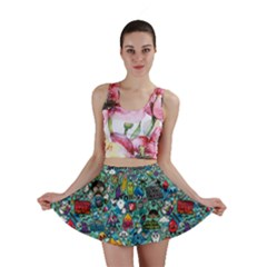 Colorful Drawings Pattern Mini Skirt