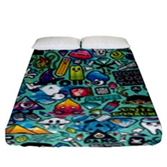 Colorful Drawings Pattern Fitted Sheet (king Size)