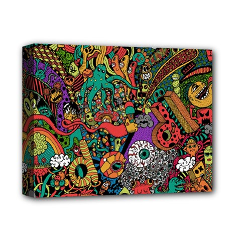 Monsters Colorful Doodle Deluxe Canvas 14  X 11