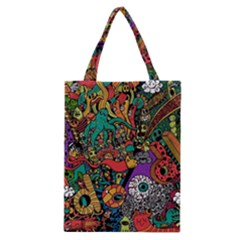 Monsters Colorful Doodle Classic Tote Bag by Nexatart