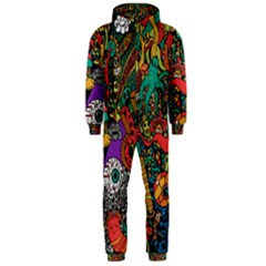 Monsters Colorful Doodle Hooded Jumpsuit (men)