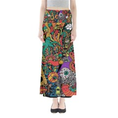 Monsters Colorful Doodle Maxi Skirts