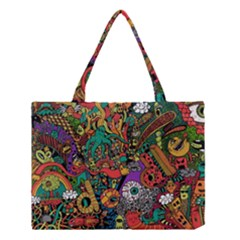 Monsters Colorful Doodle Medium Tote Bag by Nexatart