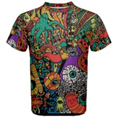 Monsters Colorful Doodle Men s Cotton Tee