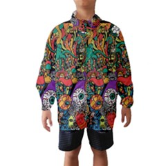 Monsters Colorful Doodle Wind Breaker (kids)