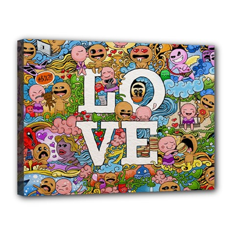 Doodle Art Love Doodles Canvas 16  X 12  by Nexatart