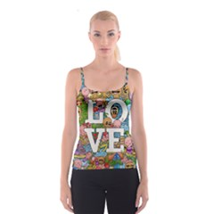 Doodle Art Love Doodles Spaghetti Strap Top