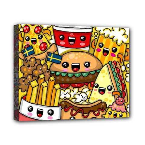 Cute Food Wallpaper Picture Canvas 10  X 8  by Nexatart