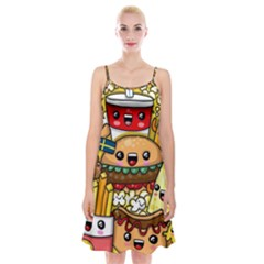 Cute Food Wallpaper Picture Spaghetti Strap Velvet Dress