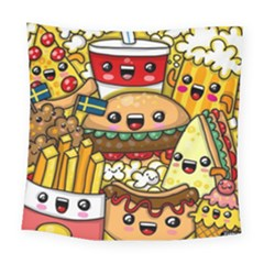 Cute Food Wallpaper Picture Square Tapestry (large) by Nexatart