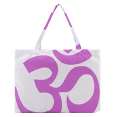 Hindu Om Symbol (bright Purple) Medium Zipper Tote Bag