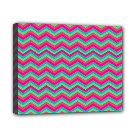 Retro Pattern Zig Zag Canvas 10  X 8  by Nexatart