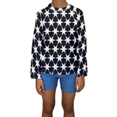 Star Egypt Pattern Kids  Long Sleeve Swimwear