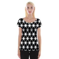 Star Egypt Pattern Women s Cap Sleeve Top