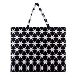 Star Egypt Pattern Zipper Large Tote Bag by Nexatart