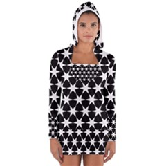 Star Egypt Pattern Women s Long Sleeve Hooded T Shirt