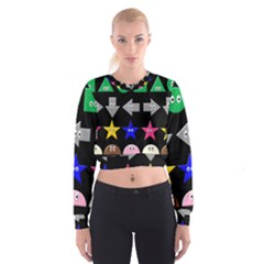 Cute Symbol Cropped Sweatshirt