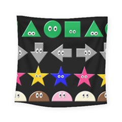Cute Symbol Square Tapestry (small) by Nexatart