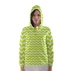 Chevron Background Patterns Hooded Wind Breaker (women)