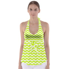 Chevron Background Patterns Babydoll Tankini Top