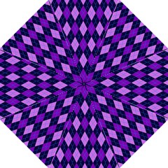 Static Argyle Pattern Blue Purple Straight Umbrellas by Nexatart