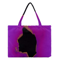 Buffalo Fractal Black Purple Space Medium Tote Bag by Mariart