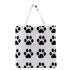 Claw Black Foot Chat Paw Animals Grocery Tote Bag by Mariart